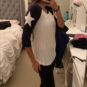 NWT stars ¾  sleeve shirt